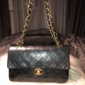 Authentic Chanel Small Classic Quilted Handbag